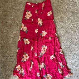 MINKPINK floral pink button skirt